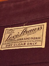 VINTAGE 30s 40s LEVI STRAUSS LS PEARL SNAP SMILEY POCKETS LS WESTERN SHIRT RARE