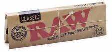 RAW King Size Slim Classic Unbleached Rolling Papers - 50 Packs