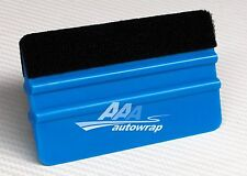 "4"" Blue Plastic Felt Edge Squeegee Car Vinyl Wrap Application Tool Scraper Decal"