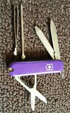 RARE PURPLE SWISS ARMY VICTORINOX ORIGINAL SIGNATURE Pocket Knife BLADE SCOUT
