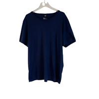 H&M Mens Organic Cotton T Tee Shirt Blue XL