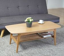 Retro Coffee Table Wooden Scandinavian Living Room Furniture Oak Vintage Style