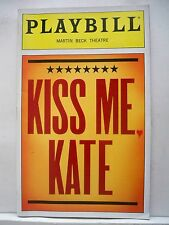 KISS ME KATE Playbill BRIAN STOKES MITCHELL / MARIN MAZZIE / AMY SPANGER NYC `99