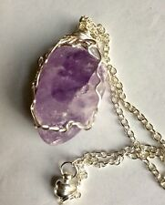 Blessed Rare Quartz Seer Stone Emma Egg Necklace