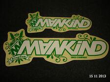 2 AUTHENTIC MANKIND BMX BIKE COMPANY FRAME STICKERS #41 / DECALS AUFKLEBER