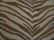 Drapery Upholstery Fabric Bengal Tiger Textured Animal Print  - Cream