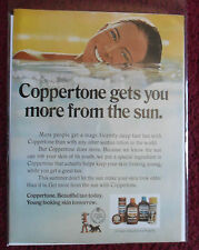 1971 Print Ad Coppertone Suntan Lotion ~ Pretty Girl GETS YOU MORE From the SUN