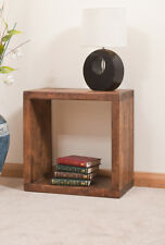 SOLID  RUSTIC SAWN PLANK | SINGLE DISPLAY CUBE | BOOKCASE | HANDMADE