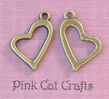 10 x coeur allongé tibétain bronze tone charms pendentifs perles