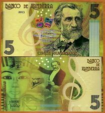 Kamberra, 5 Numisms, 2013, UNC > Giuseppe Verdi > Completely Redesigned