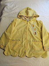 Disney Girl's Yellow Pretty Princess Jacket Size 3T Cinderella Belle Aurora