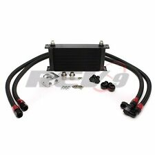 REV9 UNIVERSAL 19 ROW OIL COOLER KIT ALUMINUM BAR & PLATE PERFORMANCE TURBO/NA