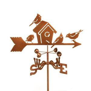 Birds and Birdhouse Weathervane - Bird Weather Vane - with Choice of Mount
