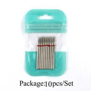 10pcs nail drill bits diamond cutters brush burr manicure pedicure steel tools