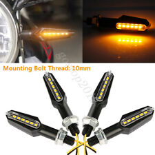 4pcs 12V Universal Motorcycle Motorbike 12 LED Turn Signal Indicator Amber Light