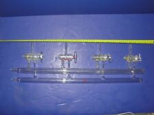 Lab Glass 4 port double bank vacuum manifold with glass stopcocks