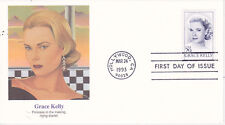 POSTAL HISTORY FIRST DAY EVENT COVER 1993 GRACE KELLY FDC FLEETWOOD CACHET STAR