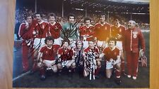 Nottingham forest fully signed league cup final picture