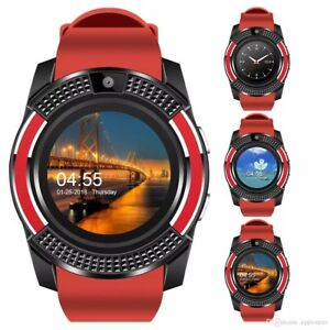 Bluetooth Smart Watch w Camera Texting Calls For Android IOS Samsung iPhone LG