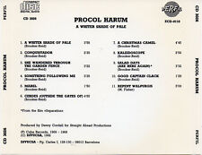 "PROCOL HARUM ""A WHITER SHADDE OF PALE"" RARE SPANISH EARLY PRESSING CD NO BARCODE"