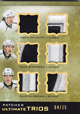 2013-14 UD ULTIMATE DREW DOUGHTY / RICHARDS / DUSTIN BROWN PATCHES /15 TRIOS