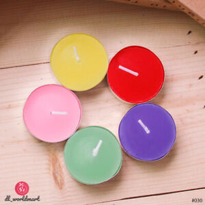 10x 2Hours Burn Tealight Candles Smokeless Night Lights 3.5cm New Year Valentine