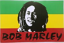 LARGE Bob Marley One Love Rasta Sticker Car Bumper Bike Skateboard Decal