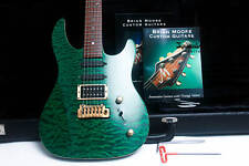 "BRIAN MOORE USA M/C1 Double Cutaway 156# "" Emerald Green + Rosewood"" (1992)"