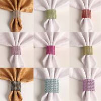 10X Crystal Napkin Rings Holders Banquet Dinner Table Serviette Buckle Wedding