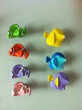 Disney Finding Nemo Fish Knobs Fish New Kitchen Dresser Ceramic 7 Knob Set NEW