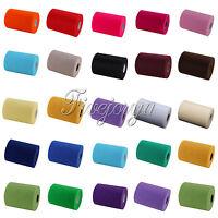"""Tulle Roll Spool for Wedding Party Tutu Shirt Decor 6""""x25Y/6""""x100Y/12""""x25Y Size"""
