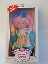 BAMBOLA CHIACCHERINA VINTAGE MARCA EFFE MADE IN ITALY