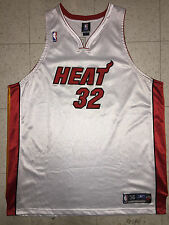 Shaquille O'Neal Miami Heat Authentic Pro-Cut Reebok Size 56 3XL NBA Jersey Shaq