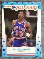 1989 Fleer All Star Sticker Card #7 Patrick Ewing New York Knicks