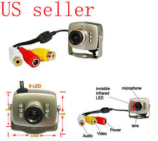 6 IR Leds NIGHT VISION Hidden COMS Cam Wire Mini Micro CCTV Home Security Camera