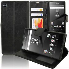 Sony Xperia Z5 E6603 6633 6653 6683 Housse Etui Coque Portefeuille Support Video