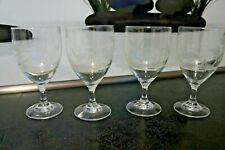 4 Trinkglas Kristall geschliffen Jagdmotiv Glas Bierglas Wasserglas