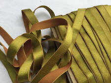 "3 Yards 5/8"" (16 mm) olive gold satin elastic lingerie headbands bra strapping"
