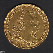 Brazil..... 1784-R Gold Half Johanna.. VF/gVF