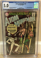 ATOM AND HAWKMAN #44 CGC 5.0 2ND SECOND SILVER AGE GENTLEMAN GHOST APPEARANCE