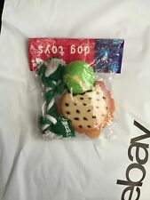 Christmas Holiday Vinyl Loud Chewed Burger Rope & tennis ball Dog Toy 3 pack