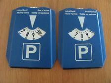 2 Stück Parkscheiben mit Eiskratzer und Einkaufswagenchips ( Kunststoff )