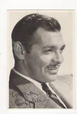 Clark Gable Plain Back Photo Card Actor 572a