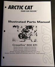 2007 ARCTIC CAT SNOWMOBILE CROSSFIRE 800 EFI PARTS MANUAL P/N 2257-759   (506)