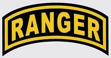 US ARMY 6 INCH LONG RANGER TAB STICKER - MADE IN THE USA!!