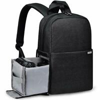 "Camera Bag Backpack Case with 14"" laptop Compartment for Sony Canon Nikon DSLR"
