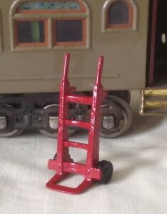 Luggage trolley or hand truck accessory, Standard Gauge model train platform