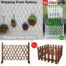 1x Trellis Fence Wood Fence Expandable Net Flower Ivy Wall Garden Yard Lawn Fenc