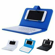 Portable Wireless bluetooth Keyboard +Leather Case Cover for Smart Phone