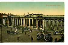 Trinity College Building-Double Decker Trolley-Dublin-Ireland-Vintage Postcard